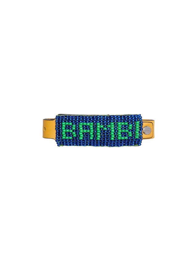 Marni Leather and bead bracelet with BAMBI lettering Man - 1