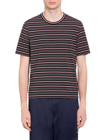 Marni T-shirt in striped jersey Man