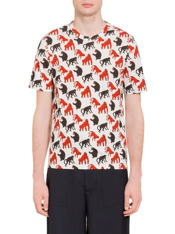 Marni T-shirt in technical jersey with Beast print   Man