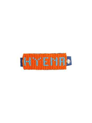 Marni Leather and bead bracelet with HYENA lettering Man