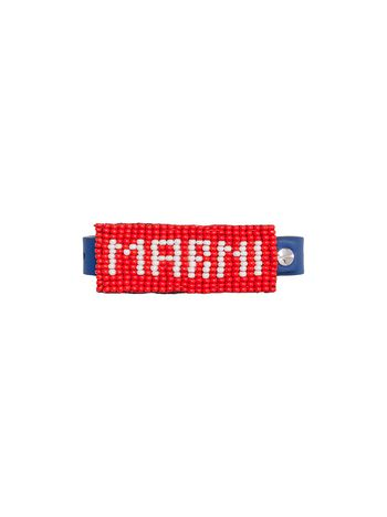 Marni Bracelet in leather and pearls with MARNI writing Man