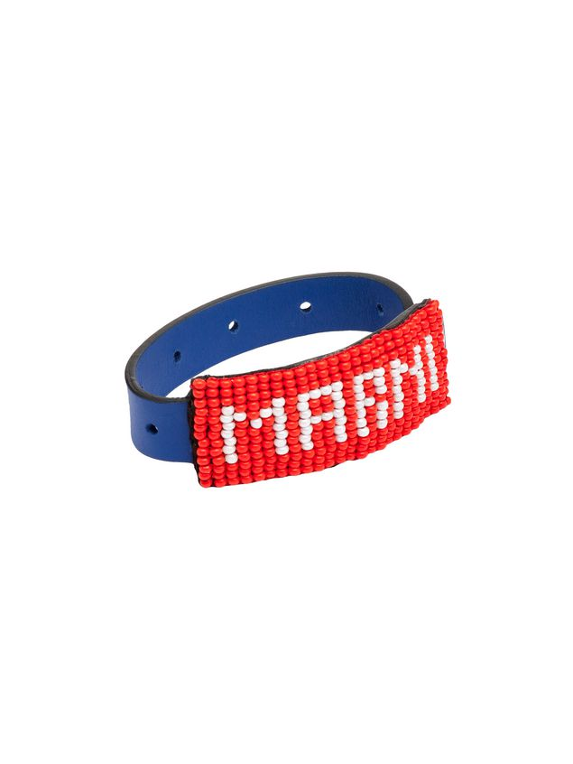 Marni Leather and bead bracelet with MARNI lettering Man - 3