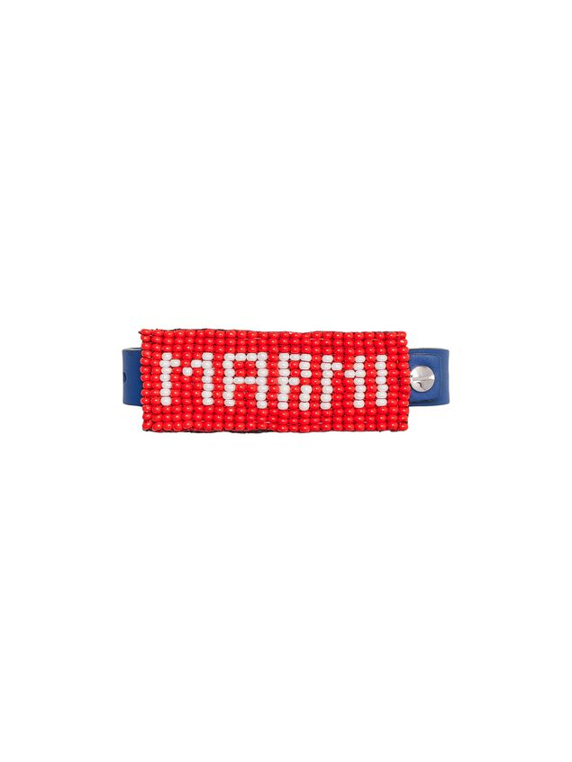 Marni Leather and bead bracelet with MARNI lettering Man - 1
