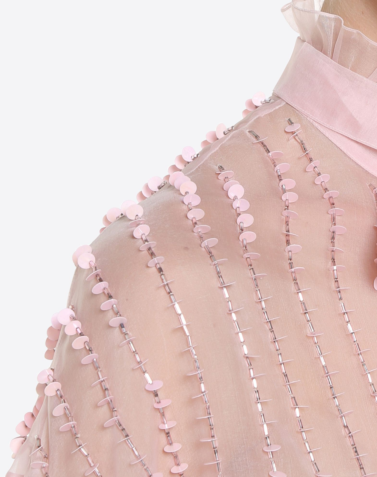 VALENTINO Embroidered Organza Shirt Shirt & blouse D a