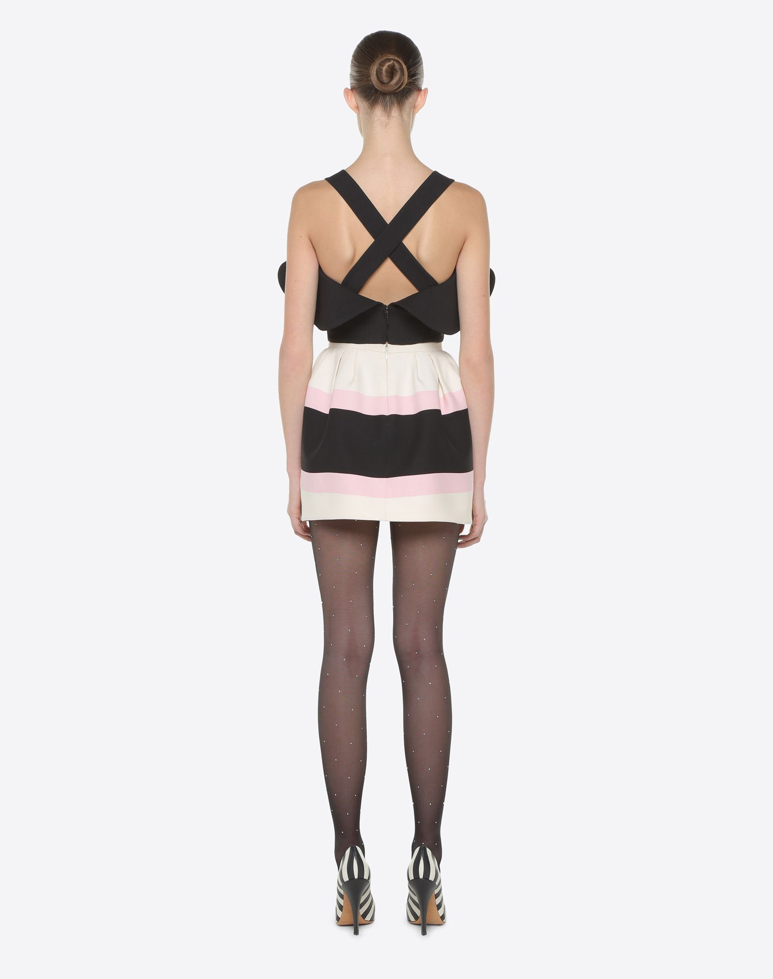 VALENTINO Couture 绉绸上衣 上衣 D e