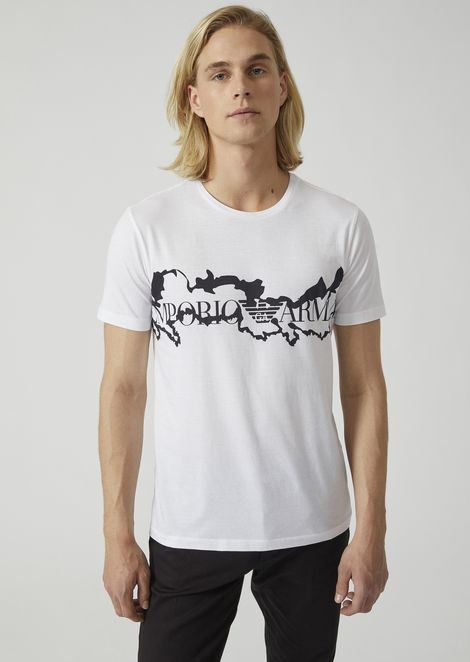 T-shirt in lightweight cotton jersey with contrasting logo print