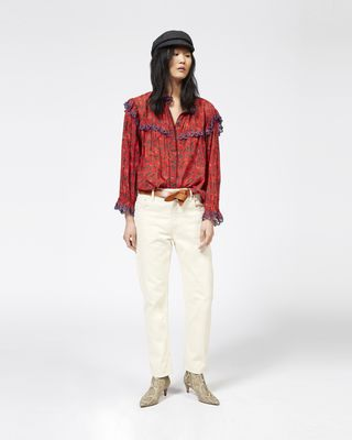 ELMIRA printed cotton voile shirt