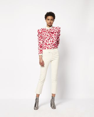 CREM printed silk top