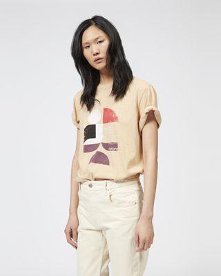ISABEL MARANT ÉTOILE 티셔츠 여성 TEWEL 프린트 티셔츠 r