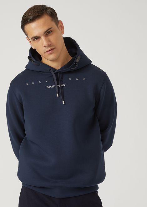 Love me sweatshirt in lightweight scuba fabric