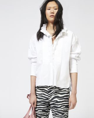 ISABEL MARANT ÉTOILE TOP Woman MORA embroidered cotton top r