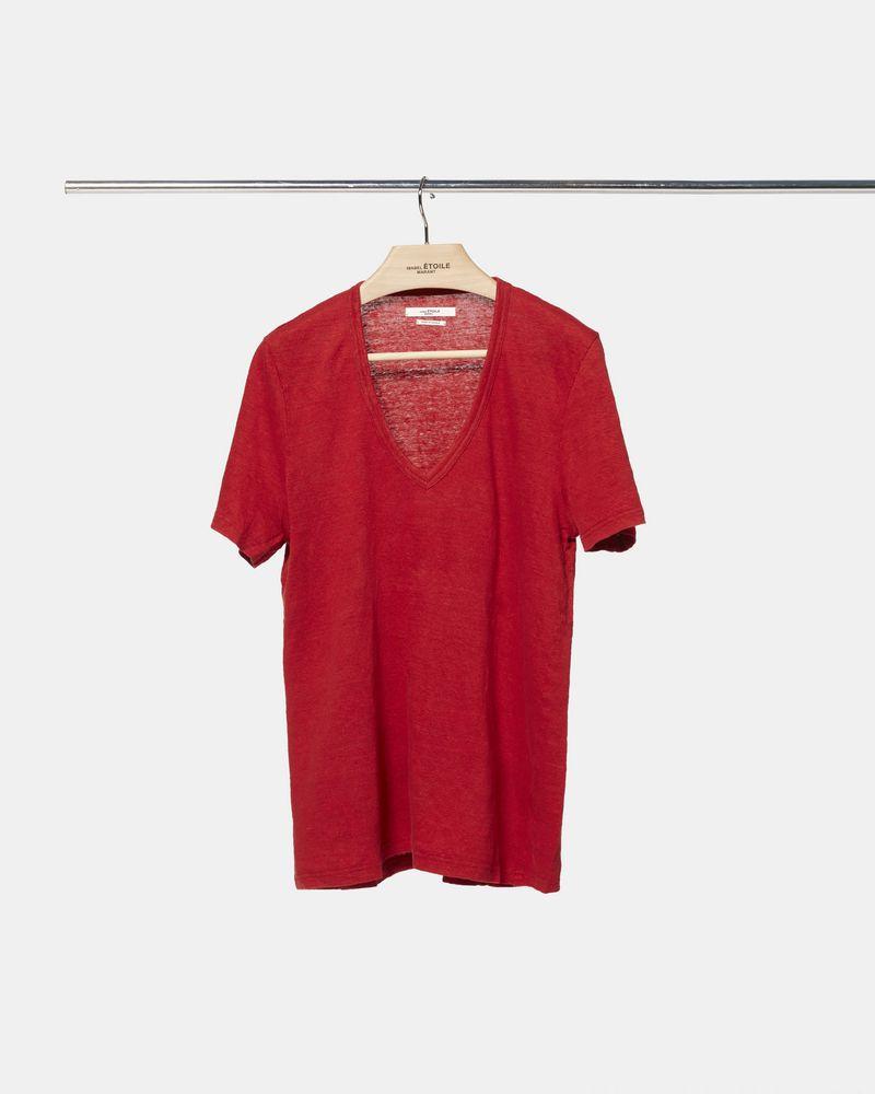 KRANGER V-neck T-shirt ISABEL MARANT ÉTOILE