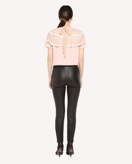 REDValentino Point d'esprit tulle detailed T-shirt