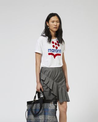 ISABEL MARANT ÉTOILE SHORT SLEEVED Woman KOLDIA logo T-shirt r