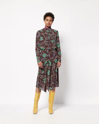 RUSAK printed silk top