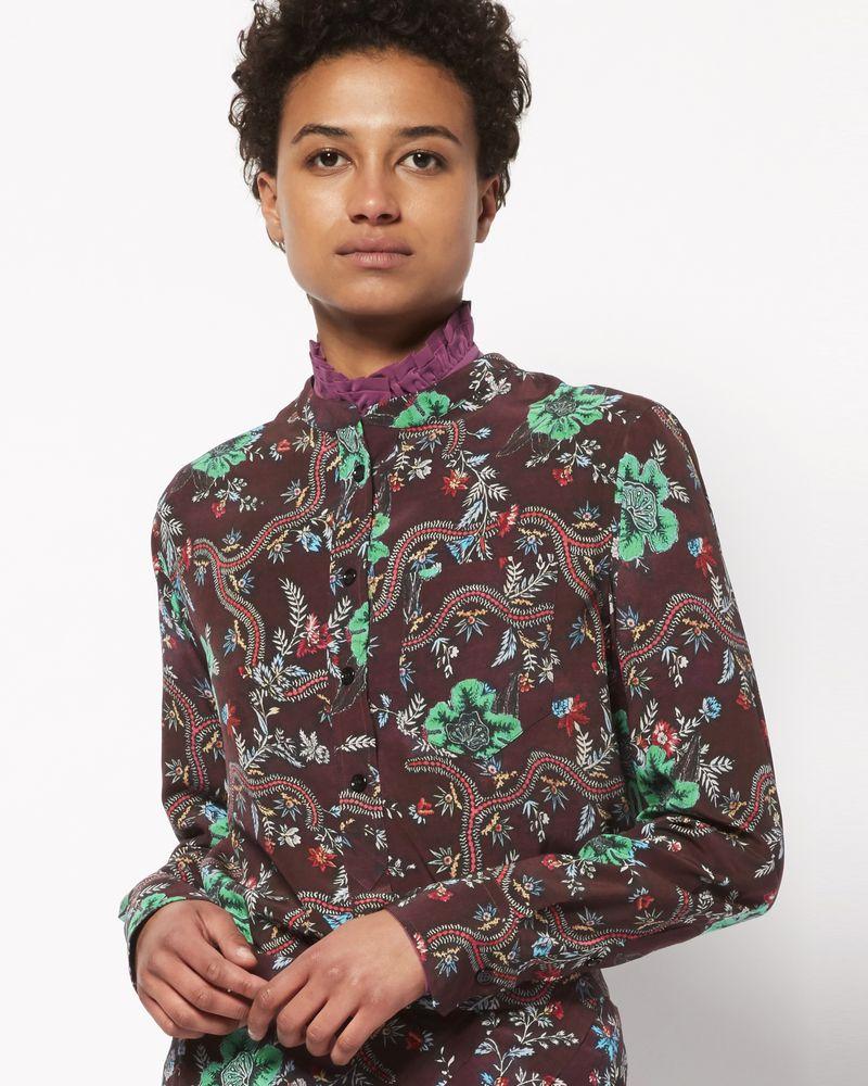 RUSAK printed silk top ISABEL MARANT