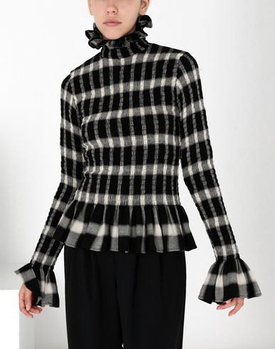 MM6 MAISON MARGIELA Top Woman Checked ruffle top f