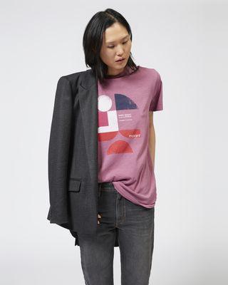 ISABEL MARANT ÉTOILE T-SHIRT Woman TEWEL printed T-shirt r