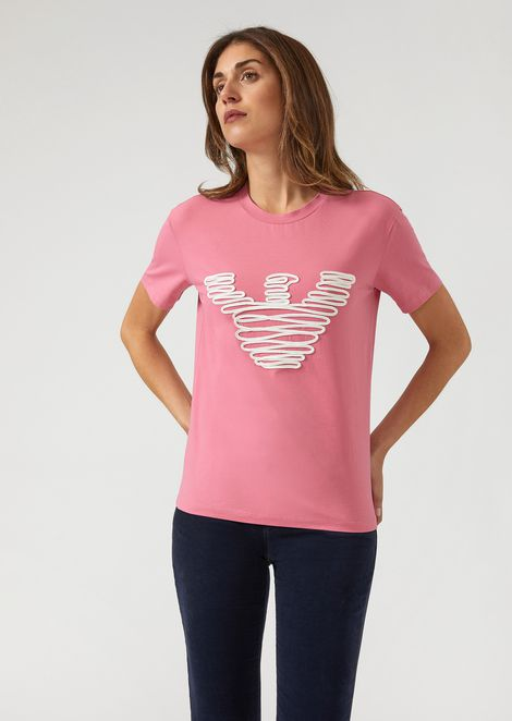 2dbb9587 T-shirt in jersey with spiral embroidered logo
