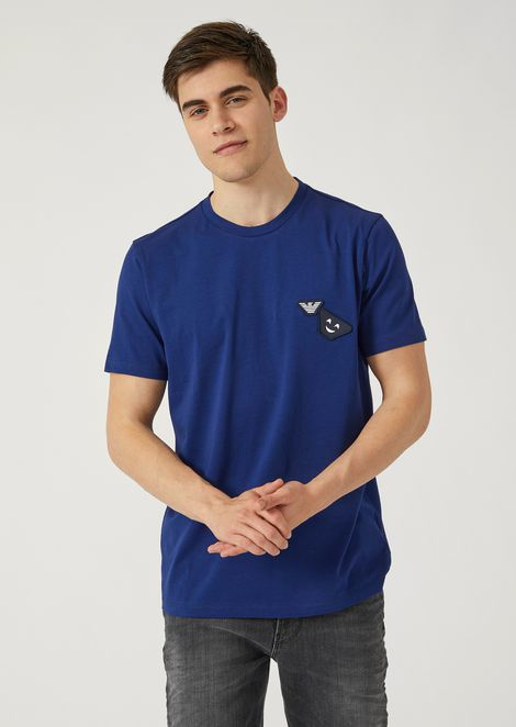 Fancy Collection T-shirt With Emoticon Patch