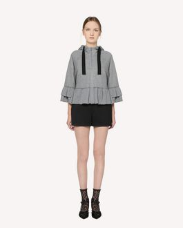 REDValentino  Ruffle detail Jersey sweatshirt