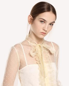 REDValentino Point d'esprit Tulle shirt with organza details