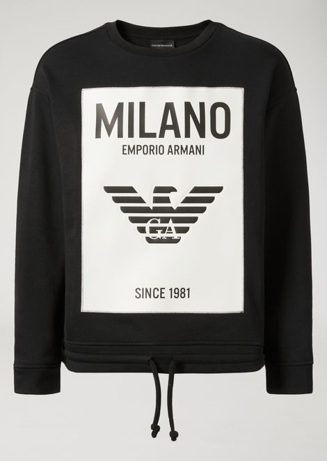"""CITY"" SWEATSHIRT IN STRETCH COTTON"