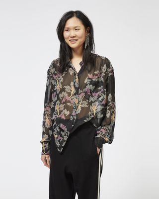 ISABEL MARANT ÉTOILE SHIRT & BLOUSE Woman JAWS shirt in printed georgette r
