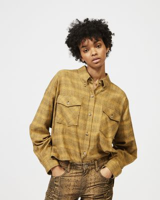 ISABEL MARANT ÉTOILE SHIRT & BLOUSE Woman DELORA checked shirt r