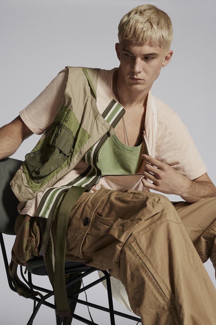 DSQUARED2 Zipped T-shirt Short sleeve t-shirt Man