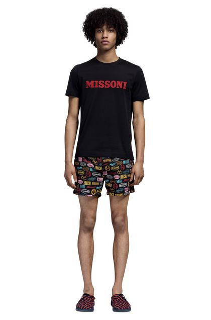 MISSONI T-shirt beachwear Nero Uomo - Retro