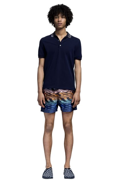 MISSONI T-shirt beachwear Blu scuro Uomo - Retro