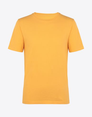 MAISON MARGIELA Short sleeve t-shirt Man Yolk yellow cotton T-shirt f