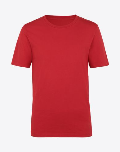 MAISON MARGIELA Short sleeve t-shirt Man Red cotton T-shirt f