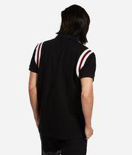 KARL LAGERFELD Cotton Piqué Zipper Neck Polo  9_f