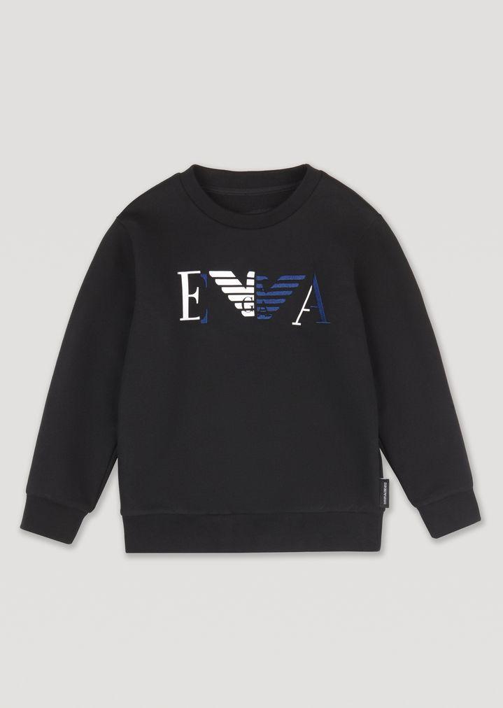 b26e3dde17489 Sweatshirt with Emporio Armani eagle and logo | Man | Emporio Armani