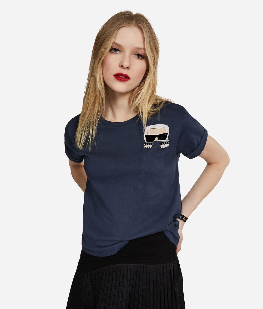 KARL LAGERFELD Ikonik Karl Pocket Tee T-shirt Woman f