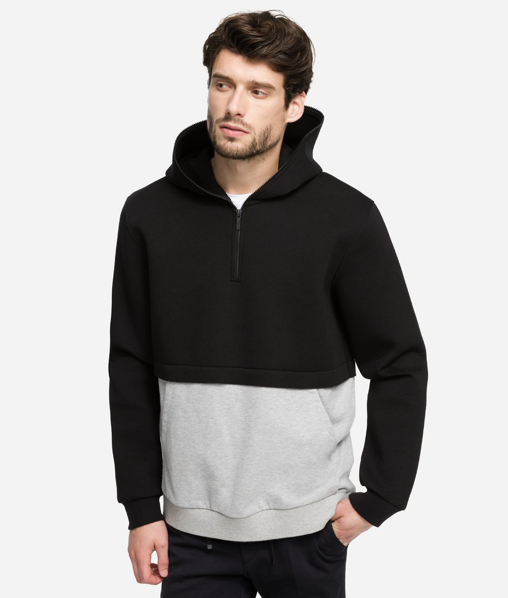 KARL LAGERFELD Color-blocked Hoodie Sweatshirt Man f