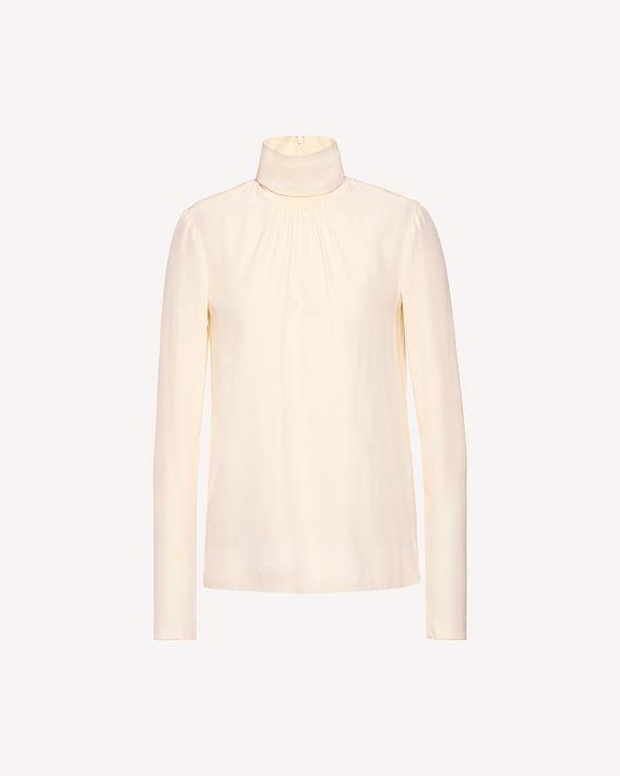 REDValentino Silk high-neck top