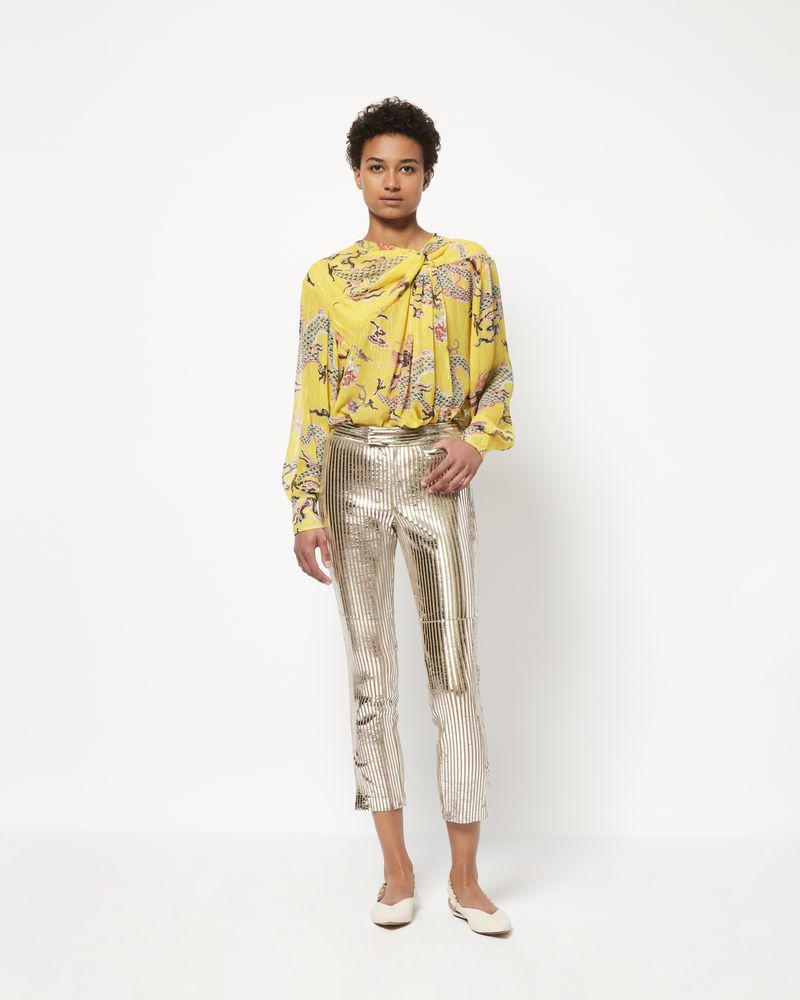 DEBBY embroidered metallic top ISABEL MARANT