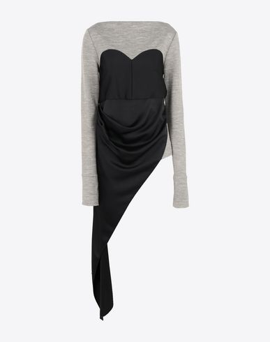 MAISON MARGIELA Top Woman Jersey top with bodice detail f