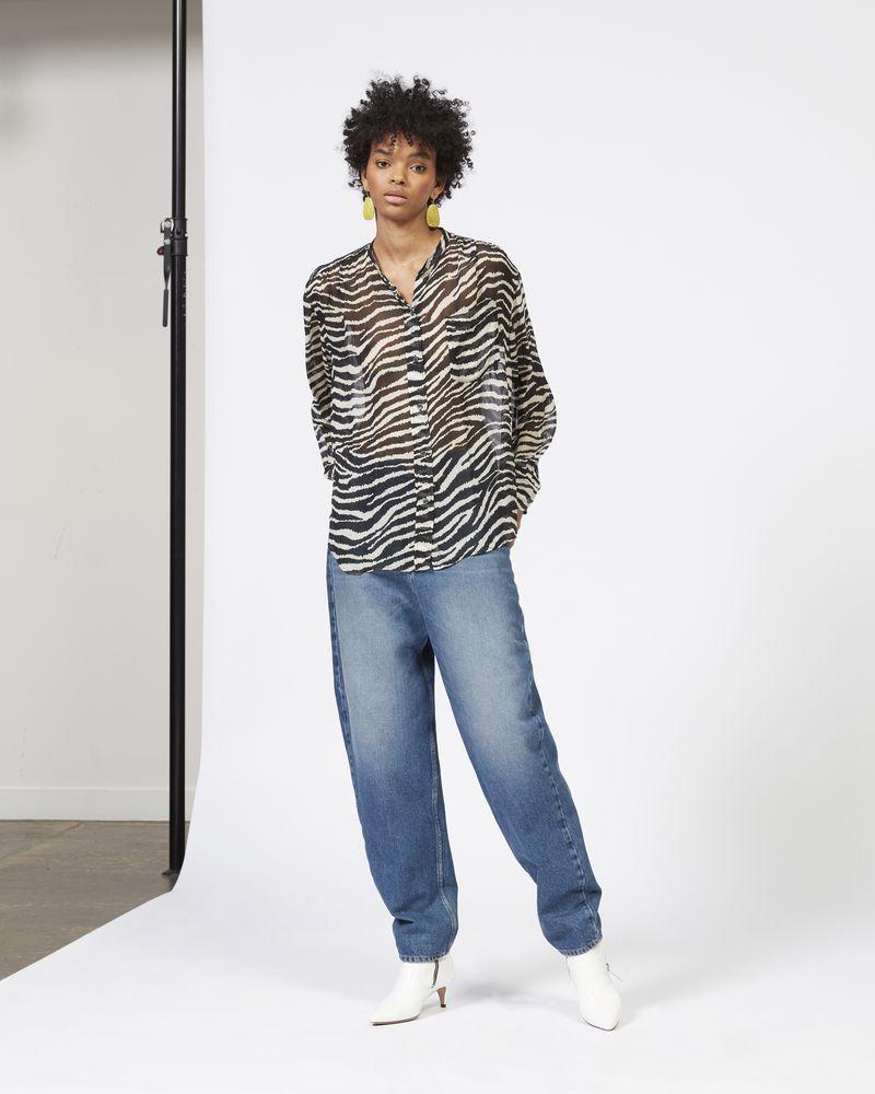 JAWS shirt in printed georgette ISABEL MARANT ÉTOILE