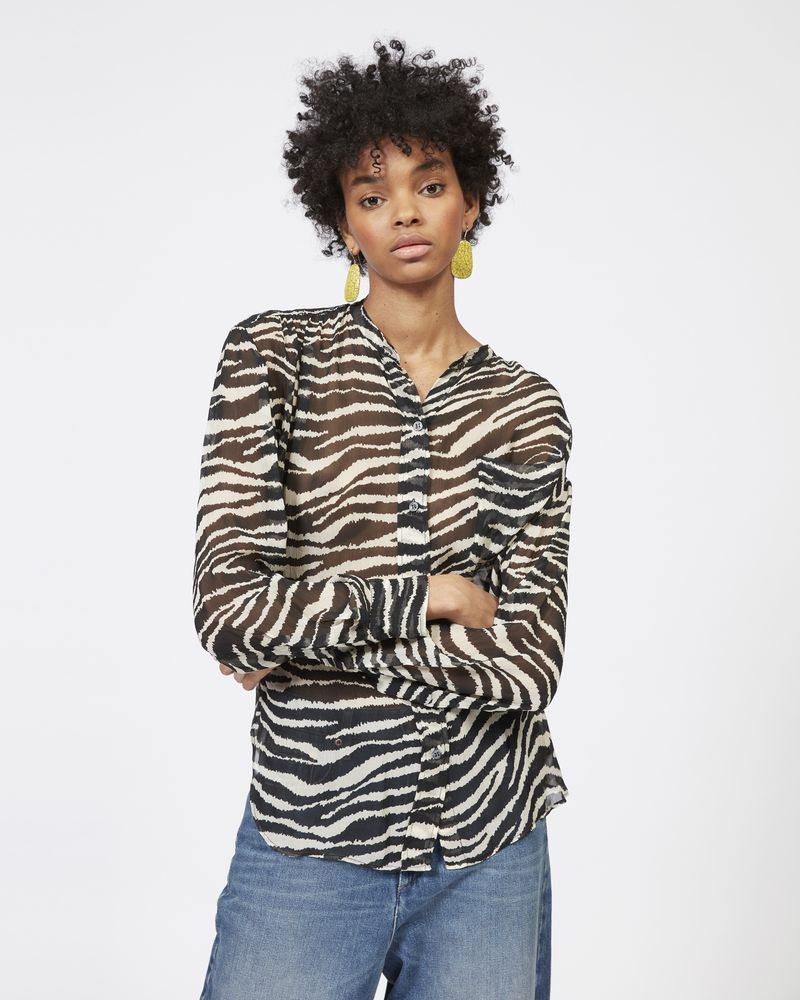 JAWS shirt in printed georgette ISABEL MARANT ÉTOILE
