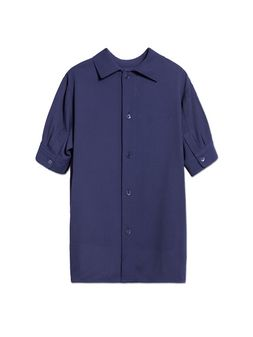 Marni BLUE VISCOSE HALF-SLEEVE SHIRT Woman