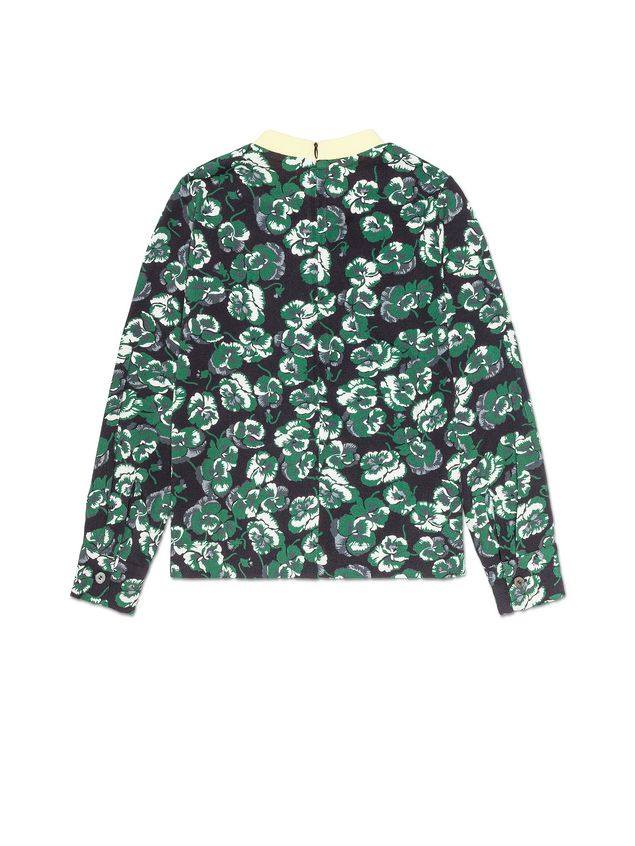 Marni VISCOSE SHIRT WITH POETRY FLOWER PRINT AND CONTRAST BREAST POCKET AND COLLAR Woman - 3
