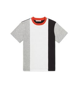 Marni T-SHIRT WITH VERTICAL STRIPES AND CONTRAST NECK Man