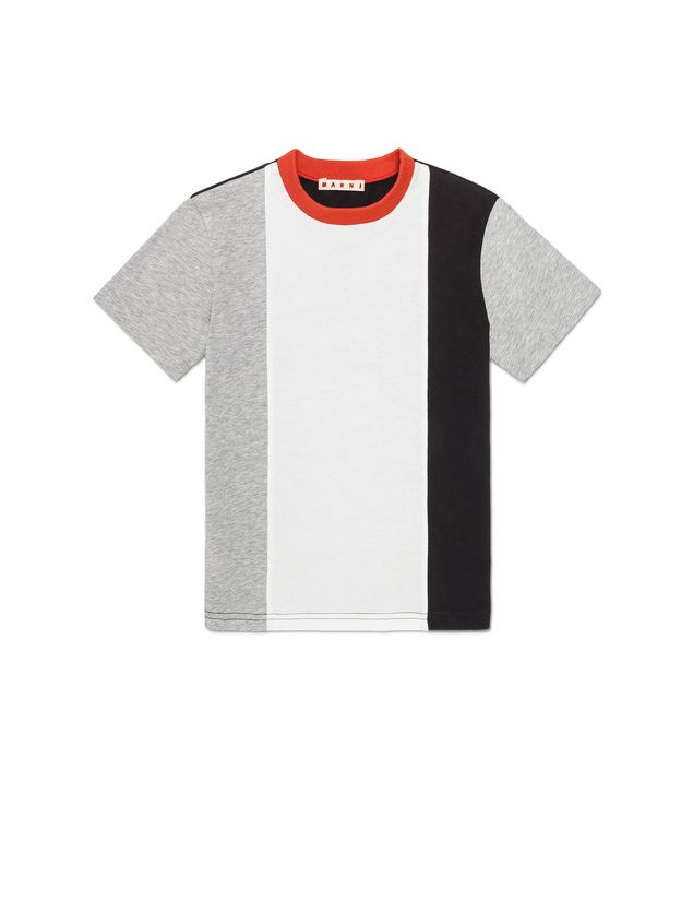 Marni T-SHIRT WITH VERTICAL STRIPES AND CONTRAST NECK Man - 1
