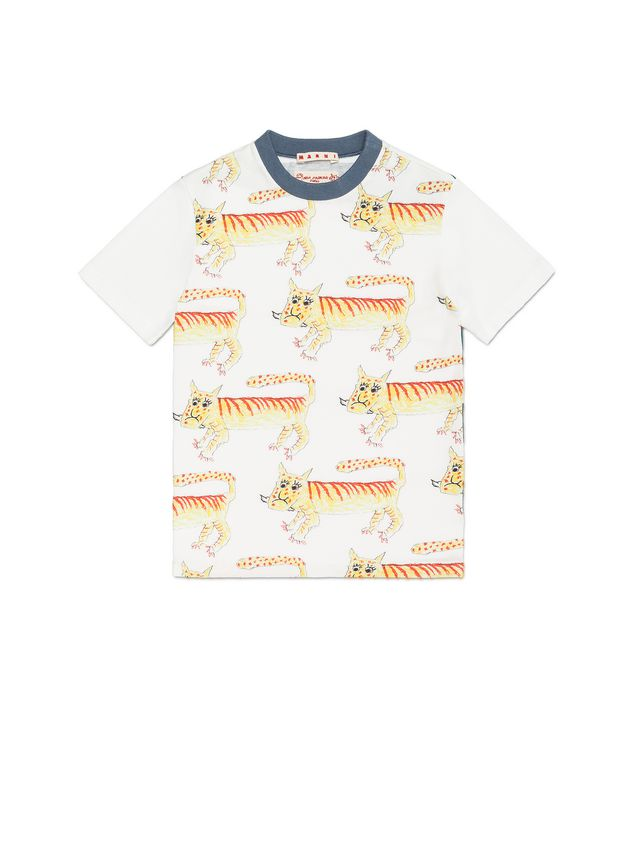 Marni COTTON T-SHIRT WITH MARIA MAGDALENA SUAREZ DESIGN Man - 1