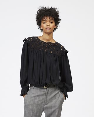 ISABEL MARANT ÉTOILE TOP Woman ROCK embroidered cotton top r