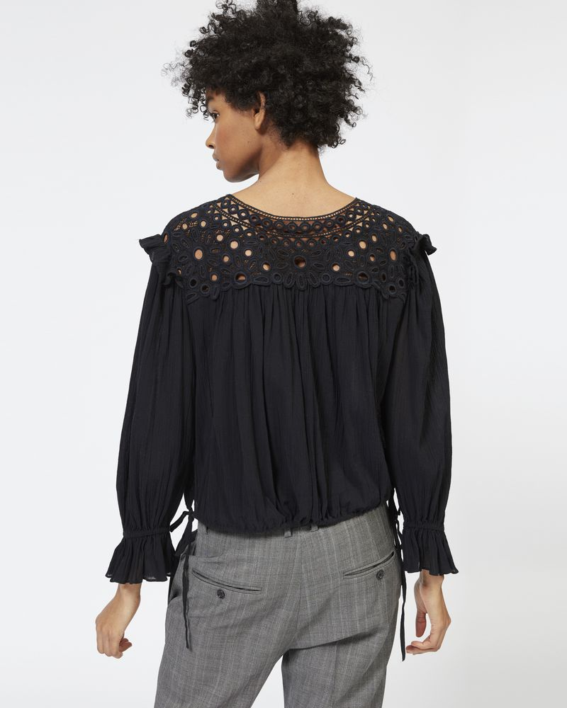 ROCK embroidered cotton top ISABEL MARANT ÉTOILE
